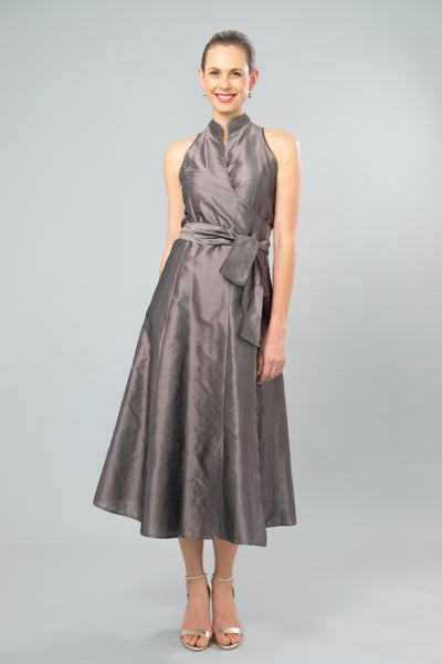 Wrap Dress - Nickel for the Mother of the Bride / Groom