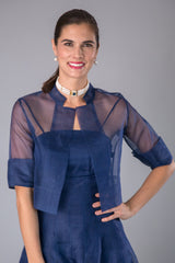 Organza Jacket - Navy for the Mother of the Bride / Groom