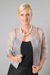 Organza Jacket - Silver for the Mother of the Bride / Groom