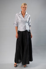 Classic Wrap Shirt - Silver for the Mother of the Bride / Groom