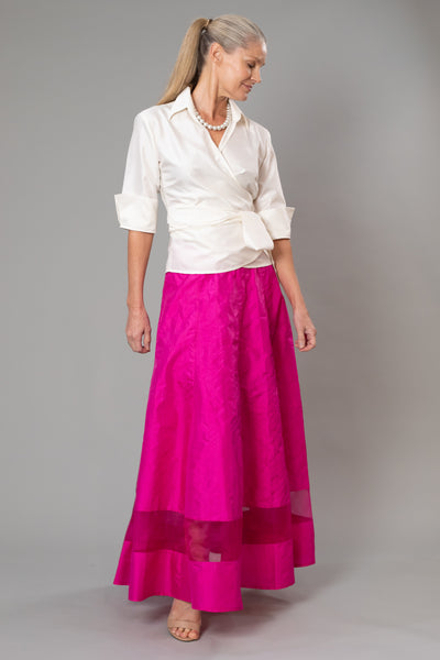 Cocktail Skirt - Long Fuchsia for the Mother of the Bride / Groom