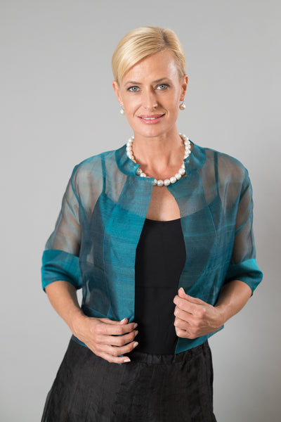Organza Jacket - Teal for the Mother of the Bride / Groom