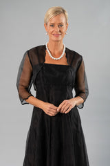 Scalloped Bolero - Black for the Mother of the Bride / Groom