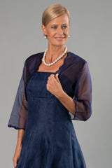 Scalloped Bolero - Navy for the Mother of the Bride / Groom