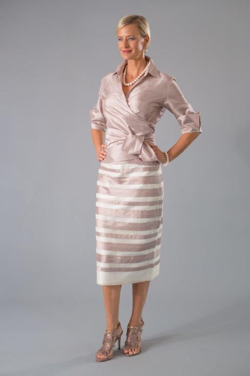 Zambi Skirt - Shell + Ivory for the Mother of the Bride / Groom