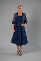 Organza Coat - Navy for the Mother of the Bride / Groom