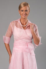 Organza Classic Wrap Shirt - Soft Pink for the Mother of the Bride / Groom