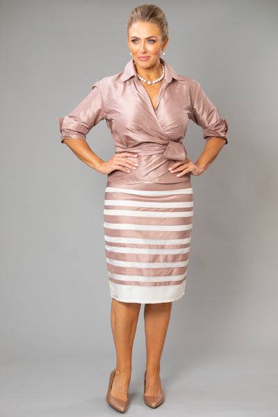 Zambi Skirt - Coffee + Ivory for the Mother of the Bride / Groom