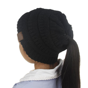 Cute Ponytail Hair Beanie