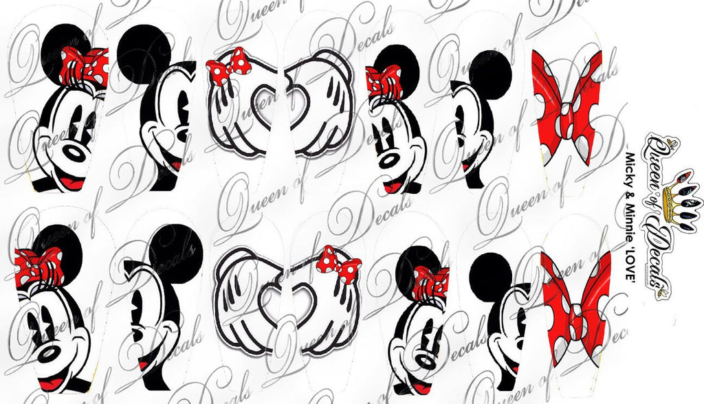Mickey & Minnie in love - Large