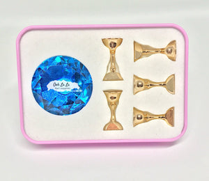 Crystal Magnetic Nail Tip Display Stand