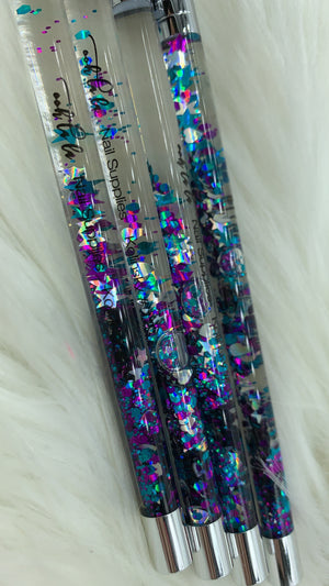 Luxury Glitter Acrylic Brushes