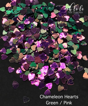 Chameleon hearts - Green/Pink