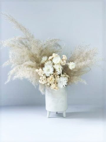 LONG LASTING PRESERVED WHITE ARRANGEMENT