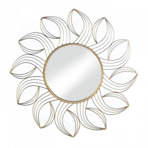 Golden Petals Wall Mirror Mirrors Accent Plus