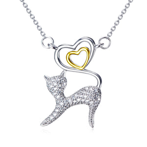 Kitty Pendant 925 Silver Necklace