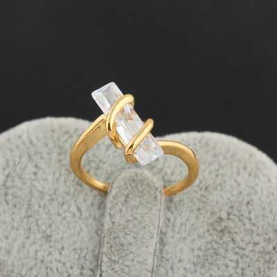 Zircon Rings in Genuine Gold and Platinum Plating