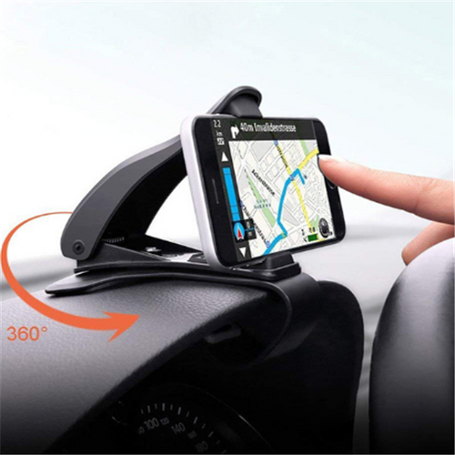 Rotary dashboard car phone holder