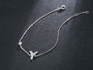 English alphabet micro-set zircon necklace
