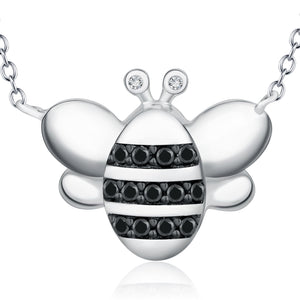Cartoon Bee 925Sterling Silver Necklace