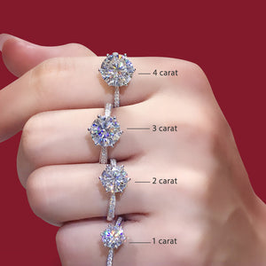 Women's Rings Real Gold Diamond Wedding Ring Jewelry