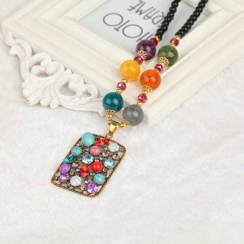 Bohemian ethnic style necklace