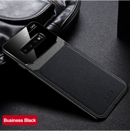 Samsung S20 Case Genuine Leather glass Shockproof Cover