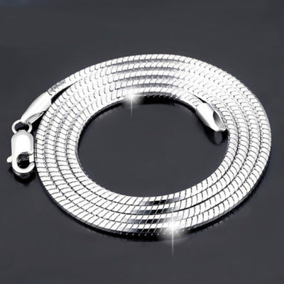 Korean fashion Sterling Silver Plated platinum necklace chain