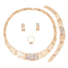 Necklace earrings four piece set