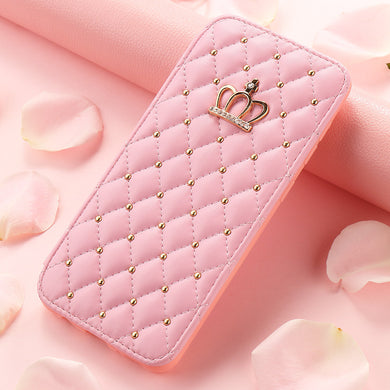 Crown leather case for mobile phone