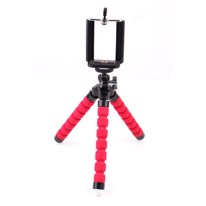 Mini Flexible Sponge Octopus Tripod Stand Holder for Mobile Phone Smartphone GoPro Camera Monopod Support Bracket Deskstop Stent