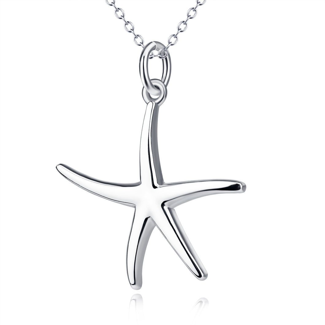 Starfish Pendant Five-Pointed Star Necklace