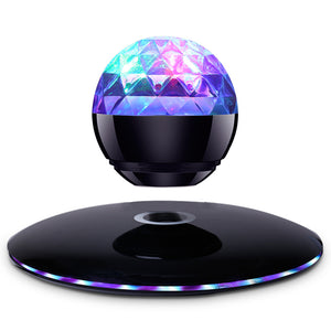 Magnetic suspension colorful lights bluetooth speaker