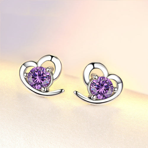 Zircon Heart Earrings