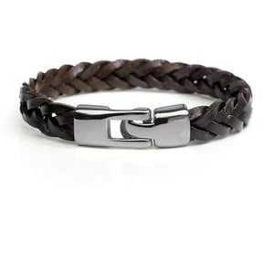 Leather alloy vintage hand-woven bracelet
