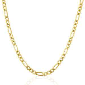 3.8mm 14k Yellow Gold Solid Figaro Chain Chains GS4LESS