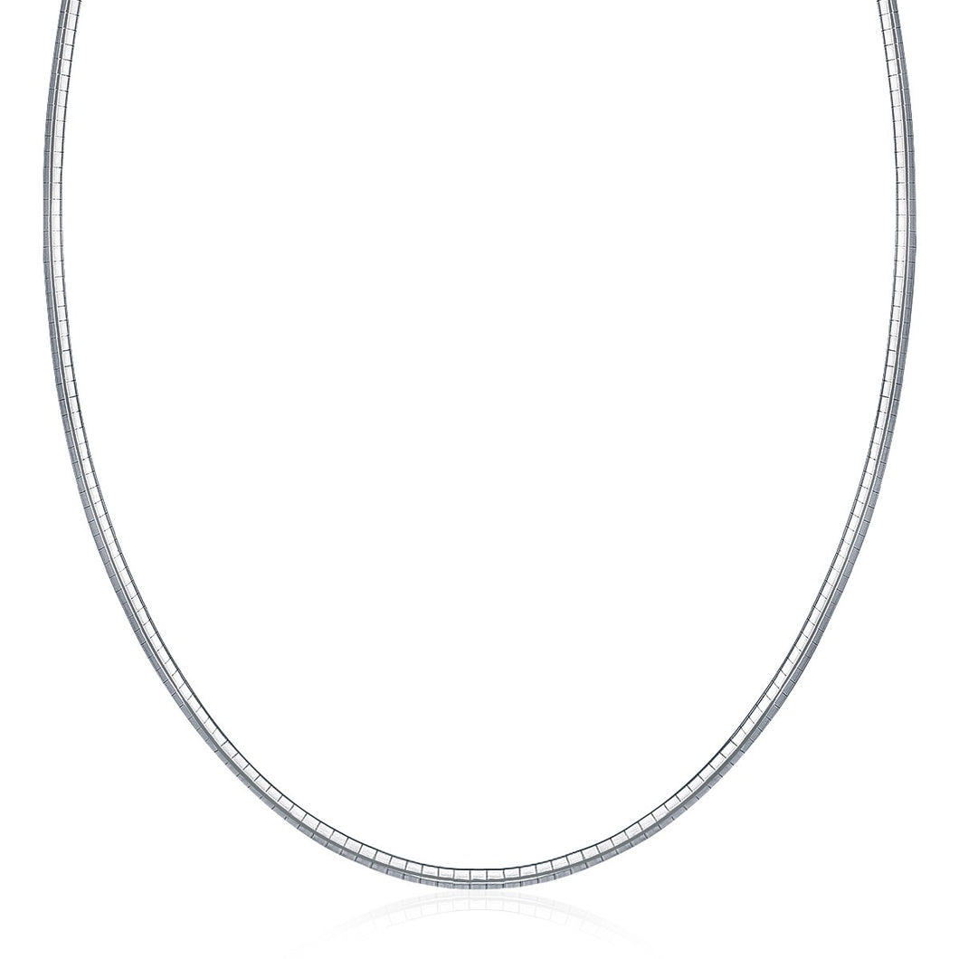 Sterling Silver Classic Omega Chain Necklace (3.0mm)