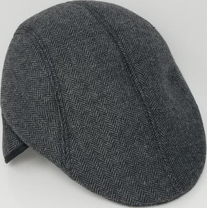 Ivy Hat with Ear Flaps Men's Hat GS4Less Large/Extra Large Gray Cotton/Polyester