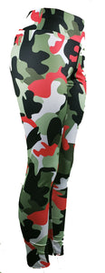 Milk silk and spandex camo leggings - GS4LESS