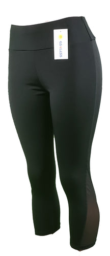 Women's black mesh leggings - GS4LESS