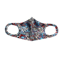 Multicolored Zebra Print Fashion Face Mask - PPE29