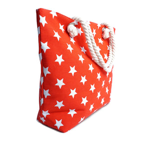 Red Stars Ladies Tote Bag