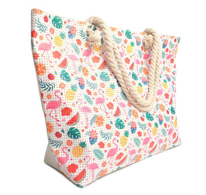 Nollia Tropical Summer Rhinestones Ladies Tote Bag