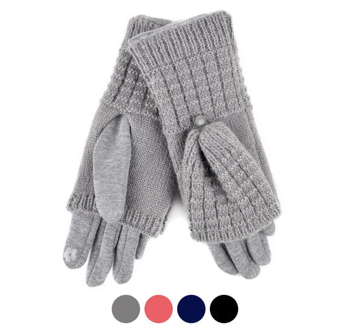 Nollia Women's Cable Knit Touch Screen Winter Gloves