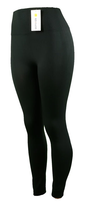 GS4LESS Women's Black One Size Leggings