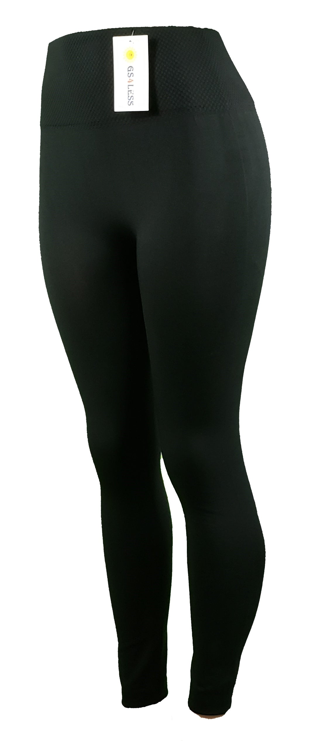 Black athletic one-size-fits-most leggings - GS4LESS