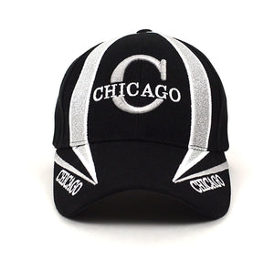 Parquet Chicago 3D Embroidered Baseball Caps