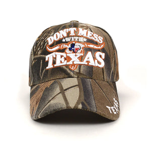 Parquet Texas 3D Embroidered Baseball Caps