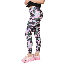 GS4LESS Women's Pink Sporty Camo Leggings