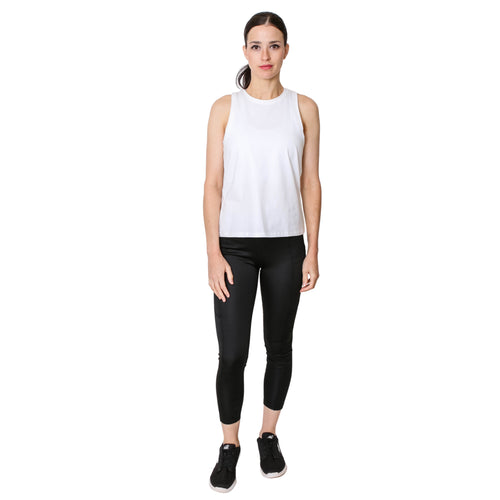 GS4LESS Women's Black High Waist 2-Pocket Active Leggings